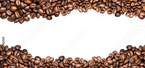 Tablou Canvas coffee beans ioslated