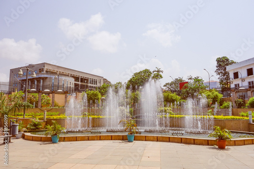 Fotomural  Retro look Bata Fountain