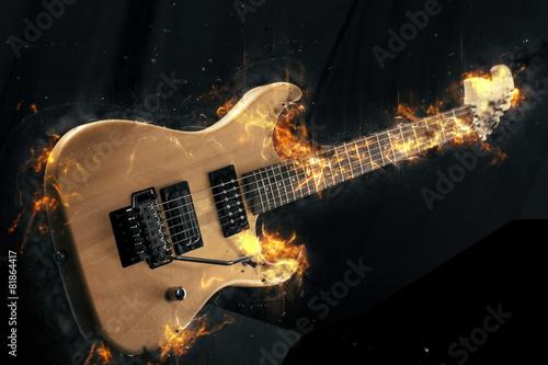 gitara-elektryczna-w-ogniu-na-czarnym-tle