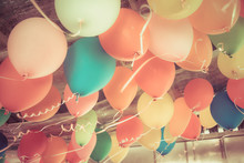 Colorful Balloons Floating On ...