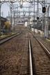 日本の線路 正面