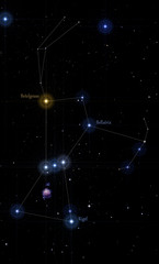 orion constellation labeled