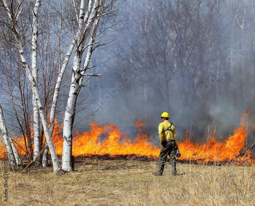 Prescribed Controlled Prairie Burn Canvas-taulu