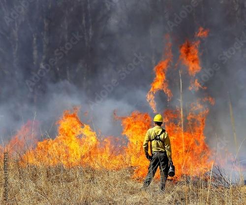 Photo  Prescribed Prairie Burn