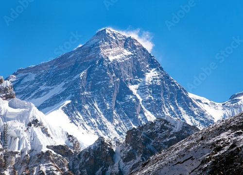Wall Murals Nepal Top of Mount Everest from Gokyo valley