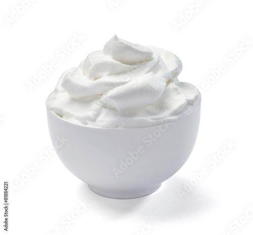 Fototapeta sour whipped cream