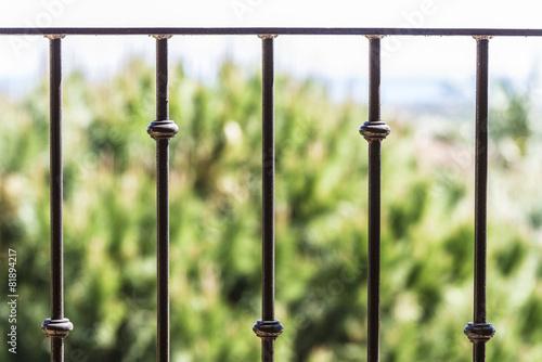 Black metal railing Fototapete