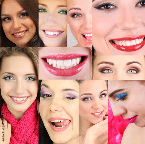 People smiles collage #81896875