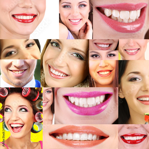 People smiles collage #81896878
