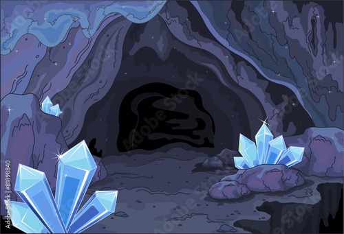 Printed kitchen splashbacks Fairytale World Fairy cave