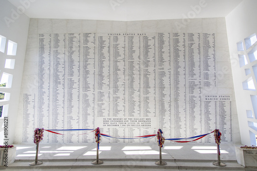 Photo  USS Arizona Memorial Wall