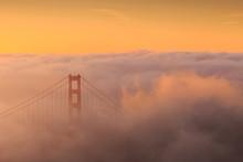 Golden Gate Bridge And Downtown San Francisco, USA