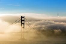 Low Fog At Golden Gate Bridge San Francisco