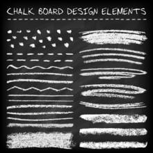 Set Of Chalk Strokes.