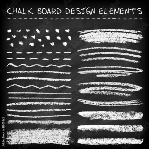 Fotografia Set of chalk strokes.