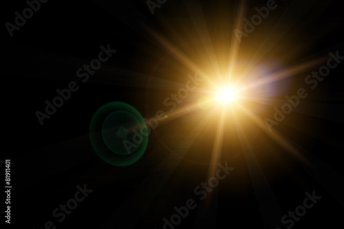 Obraz Vector star, sun with lens flare. - fototapety do salonu
