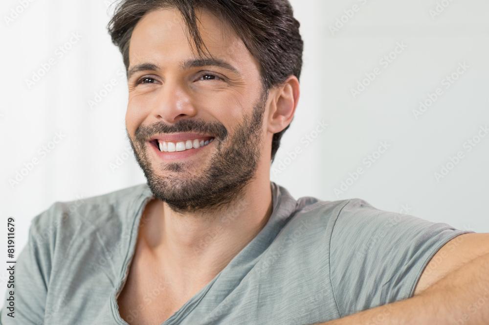 Fototapeta Happy man smiling