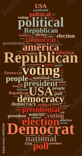Fototapety, obrazy: Democrat and Republic.