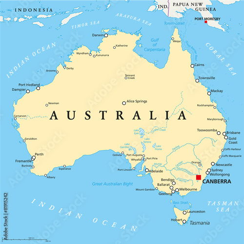 Buy Map Of Australia.Australia Political Map Buy This Stock Vector And Explore Similar