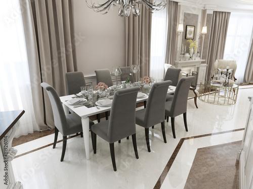 Fotografía  Luxury dining classical style