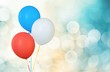 Balloon. Red, White and Blue Helium Balloons - Isolated