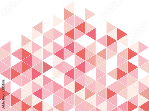 Fotografija  pink triangle abstract background with space pastel style