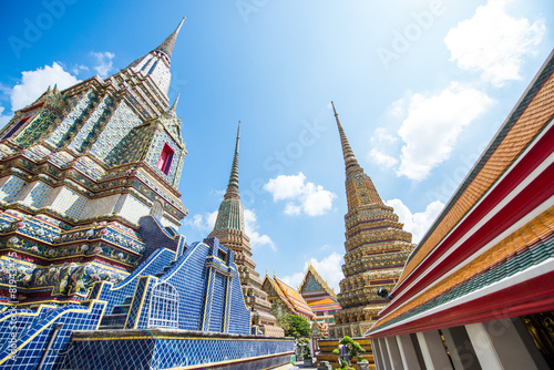 Wat Po, The Temple of reclining buddha, Bangkok, Thailand. Poster