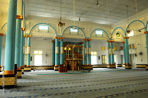 Interior of The Sultan Ibrahim Jamek Mosque at Muar, Johor Canvas-taulu