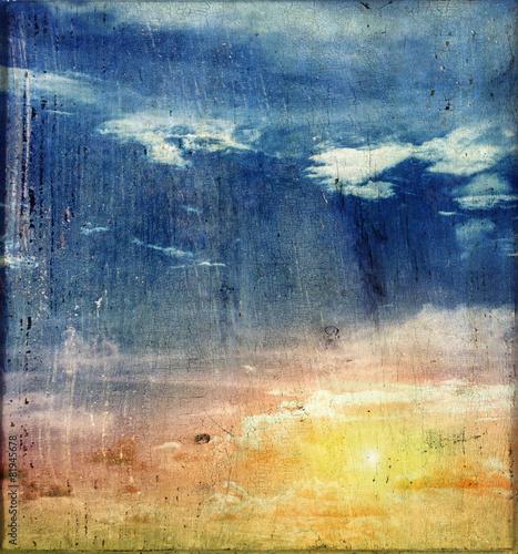 Fototapeta Vintage canvas sky obraz na płótnie