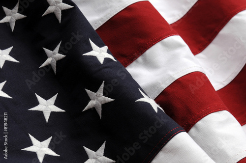 Canvas Prints Textures American Flag closeup
