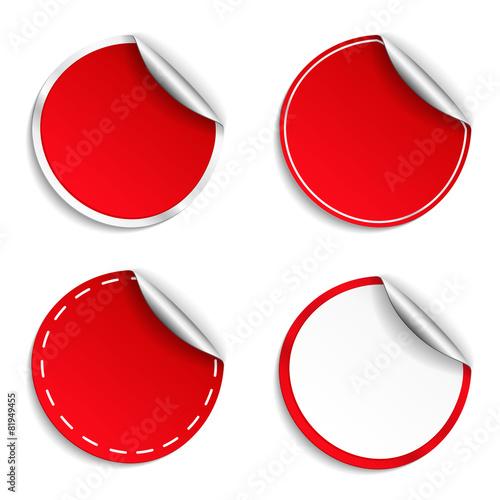 Fotografía  Red Round Stickers