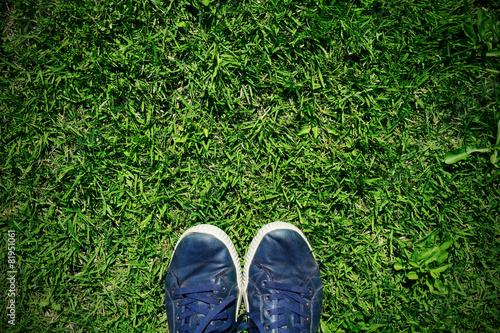 Fotografie, Obraz  stepping on the grass