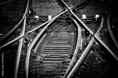 Poster Voies ferrées Rail tracks