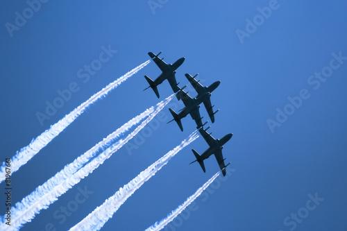 Fototapeta Flight in enemy territory