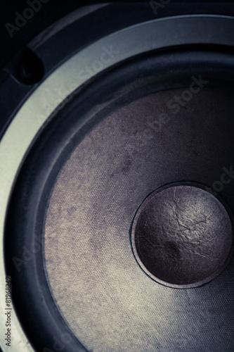 Foto op Plexiglas Stenen in het Zand Old speakers