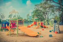 Children's Playground Leftover In Vintage Color