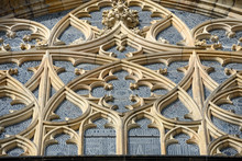 Top Part Of St. Vitus Cathedral Window, Prague, Czech.
