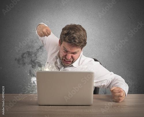 Fotografie, Obraz  Stressed and overworked businessman