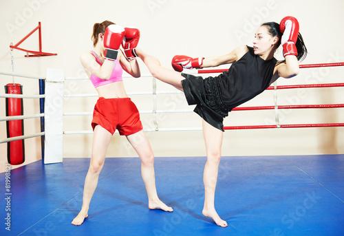 obraz dibond Muai thai bojowe kobiety