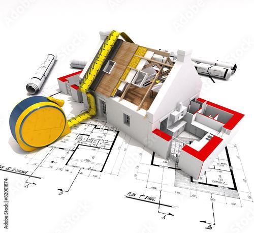 Fotografia, Obraz  Construction technical