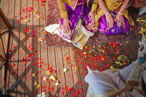 Foto op Aluminium Bali balinese wedding ceremony