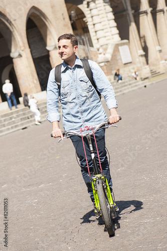 Valokuva  Businessman on footbike