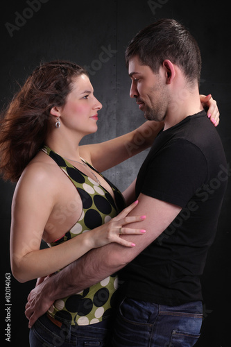 Ingelijste posters Dance School man and woman happy together