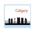 Calgary, Canada skyline. Detailed silhouette. Vector illustratio