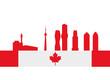 Skyline silhouette of Mississauga, Ontario, Canada.