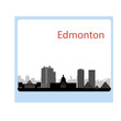 Edmonton, Canada skyline. Detailed silhouette. Vector illustrati