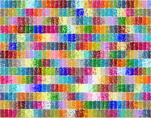 Naklejka Na szybę Mozaika