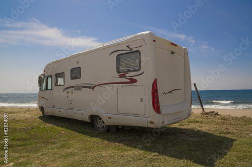 Photo  caravan sea holidays Greece
