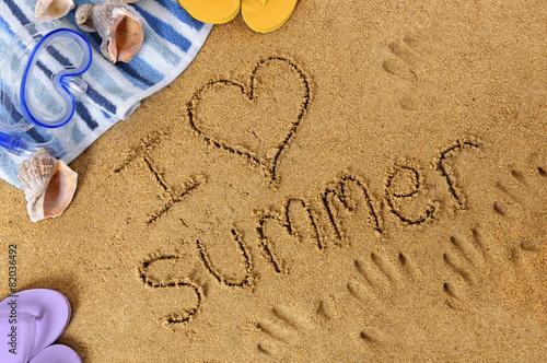 Poster Oceanië I love summer