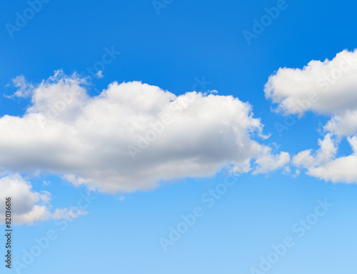 Canvas Print - Blue sky with clouds